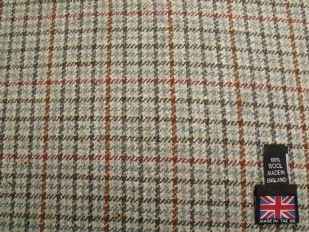 100% Wool Gun Club Check Fabric BZ12